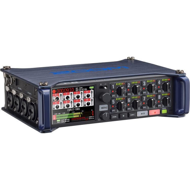 Gravador Digital Zoom F8 Multi Track Field