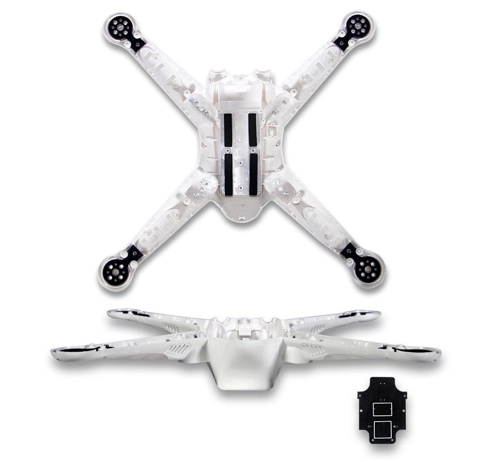 Estrutura para Drone Free-x2 FPV - Branca (FX4-039)