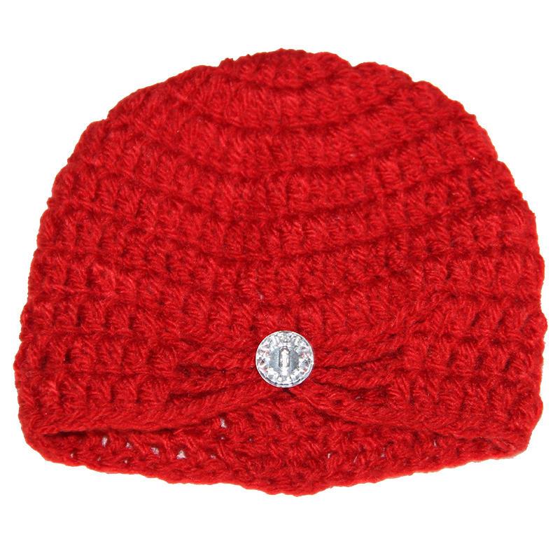 Gorro de Lã cristal vermelho para Fotografia Newborn