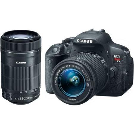 Kit Premium Câmera Canon T5i com Lente Canon EF-S 18-55mm STM e Lente Ef-S 55-250mm II
