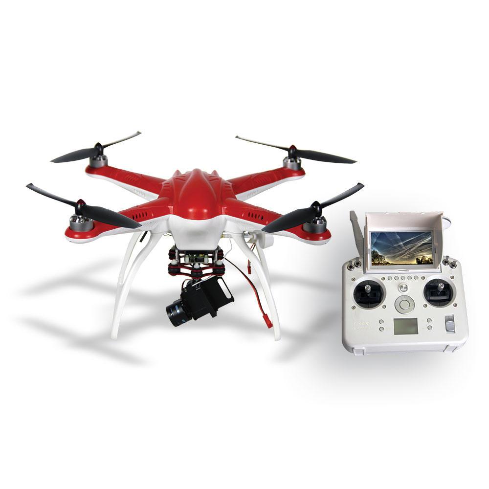Drone Free-X2 FPV com Gimbal para GoPro Hero3 e Hero3+ e Hero4 - Vermelho