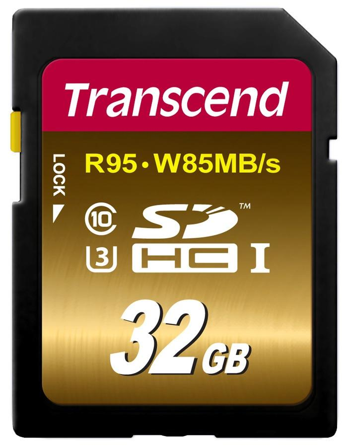 Cartão SD 32GB Transcend Ultimate de 95Mb/s Classe 10 UHS-I 4K