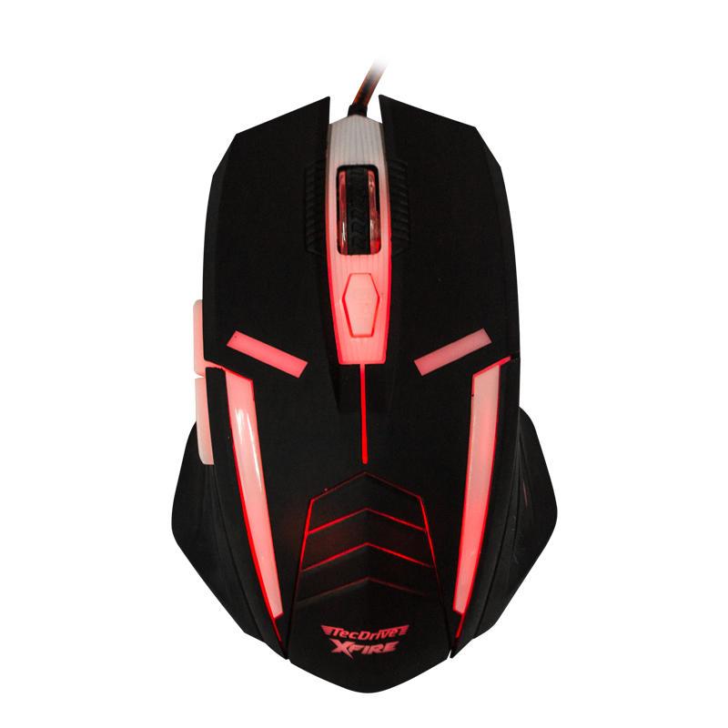 Mouse Gamer Shinigami com 3200 DPI com 7 Botões (Vermelho)