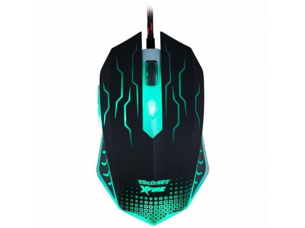 Mouse Gamer WuXi com 3200 DPI com 7 Botões (Verde)