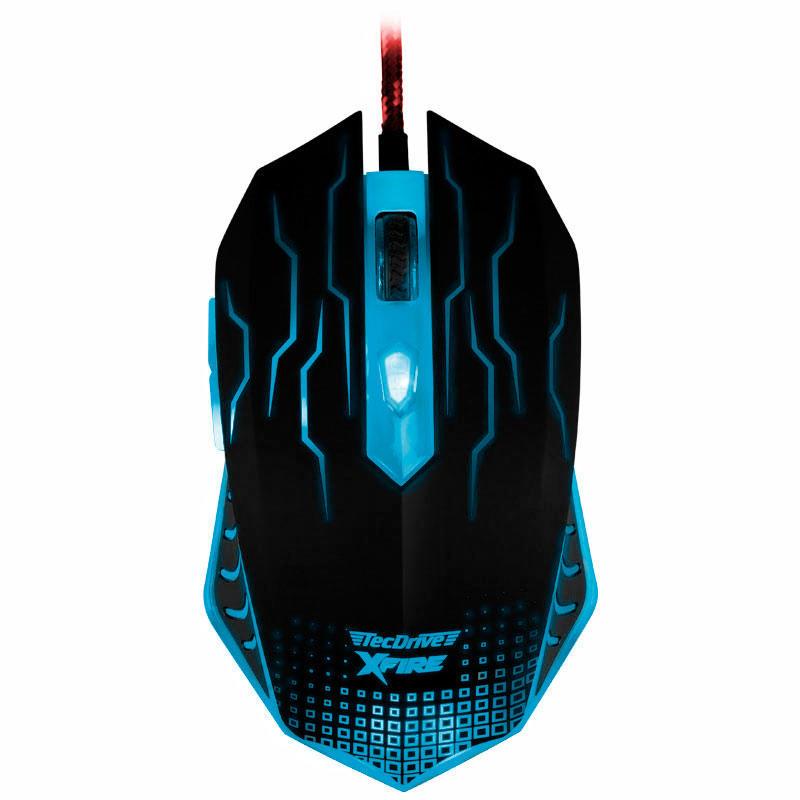 Mouse Gamer WuXi com 3200 DPI com 7 Botões (Azul)