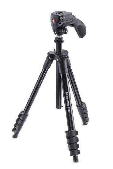 Tripé Manfrotto Compact Action Black - MK- COMPACTACN-BK