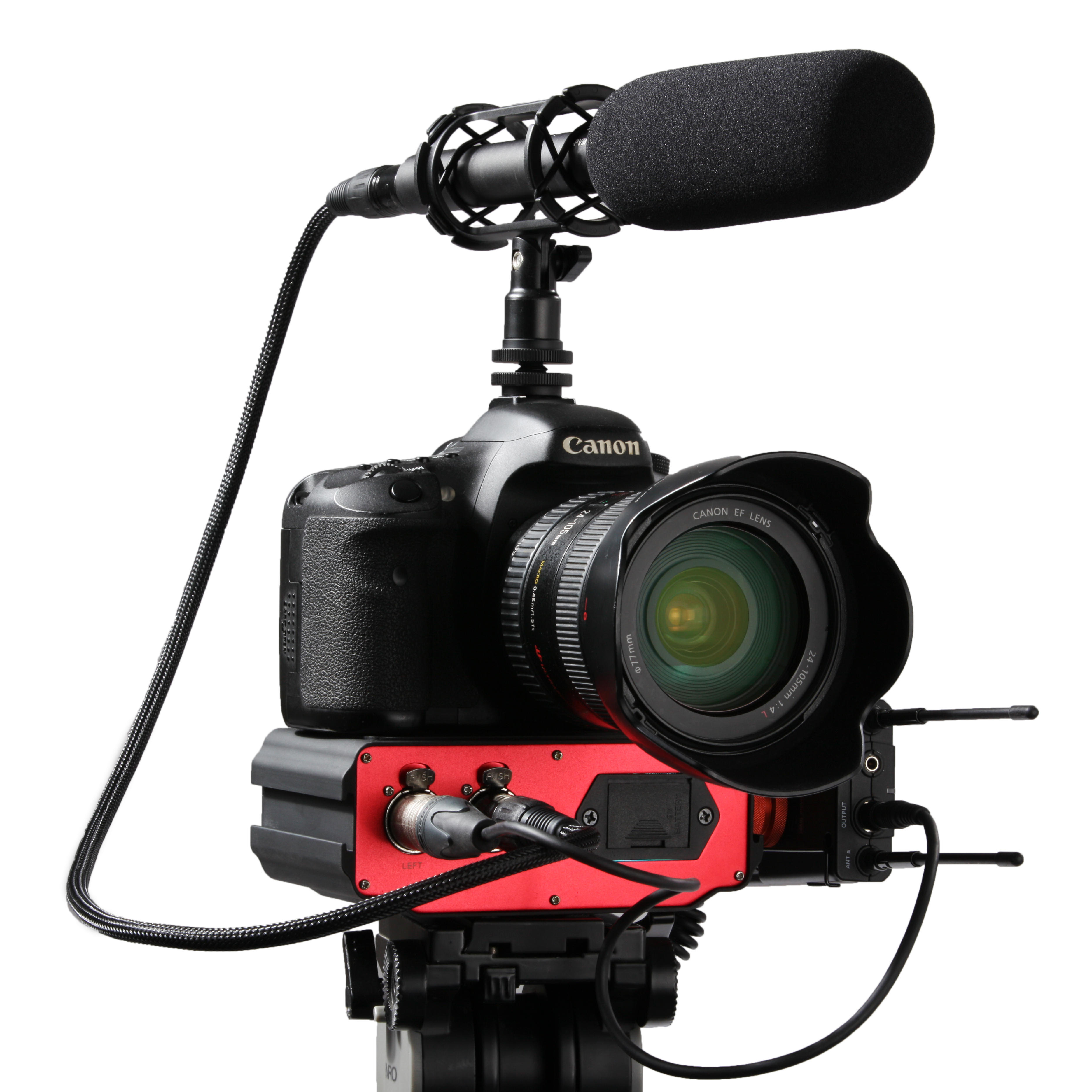 Gravador de áudio Saramonic SR-AX107 2XLR para DSLR e Camcorders