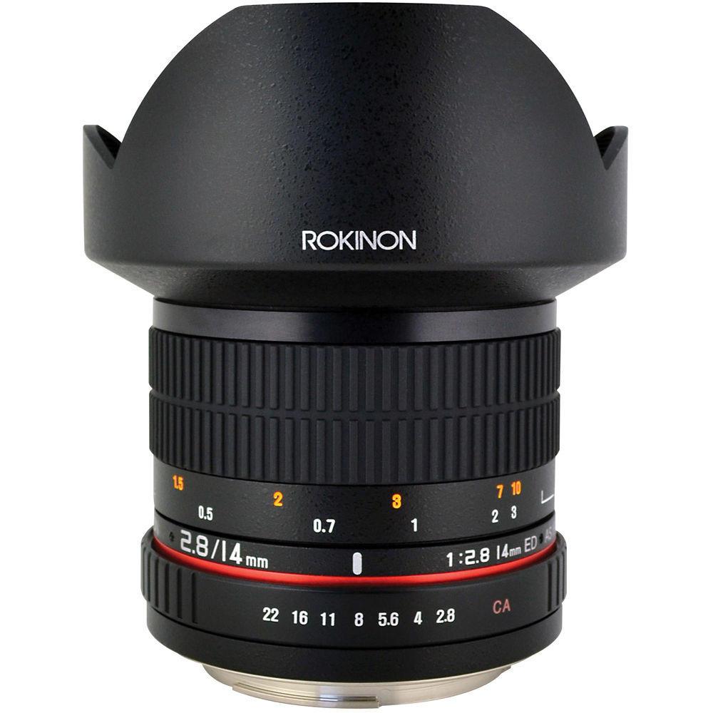 Lente Rokinon 14mm T3.1 Cine ED AS IF para Canon EF DS14M-C