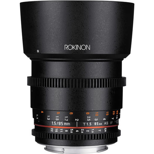 Lente Rokinon Cine 85mm T1.5 AS IF UMC DS85M-C para Canon EF