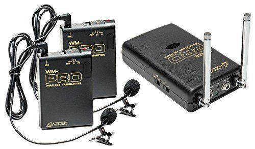 Kit Duplo Microfone Lapela sem fio Azden WDL-PRO