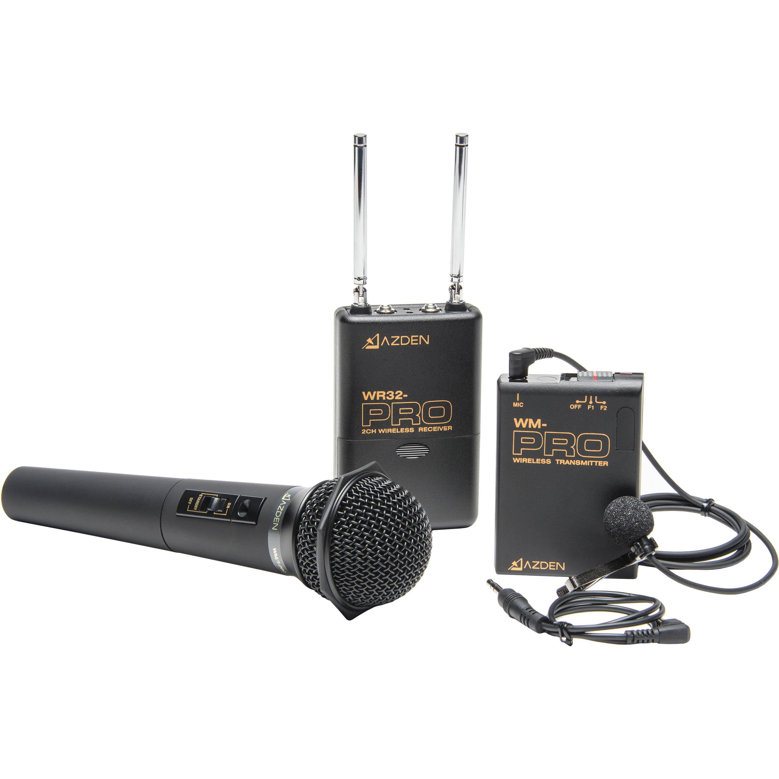 Kit Microfone de Mão e Lapela sem fio Azden WDM-PRO