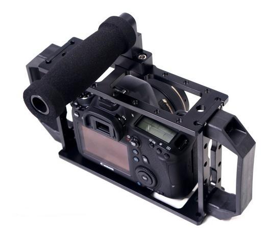 Gaiola Grande para Câmera DSLR com encaixe para Leds e Microfones