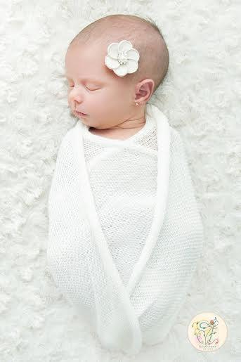 Wrap de Lã Branco para Fotografia Newborn
