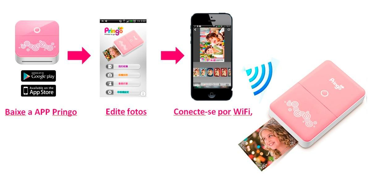 Impressora Fotográfica Portátil Hiti Pringo P231 para Fotos Instantâneas ( Rosa )
