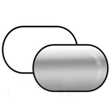 Rebatedor 2 em 1 de 180x210cm - Branco e Prata