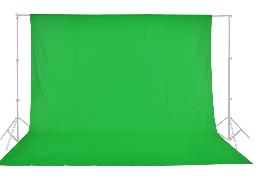 Fundo Infinito Chroma Key de Algodão Verde 3x4m