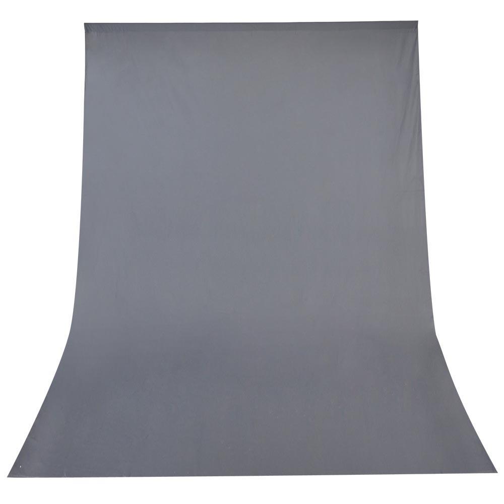 Fundo Infinito de Algodão Cinza 1.8x2.8m