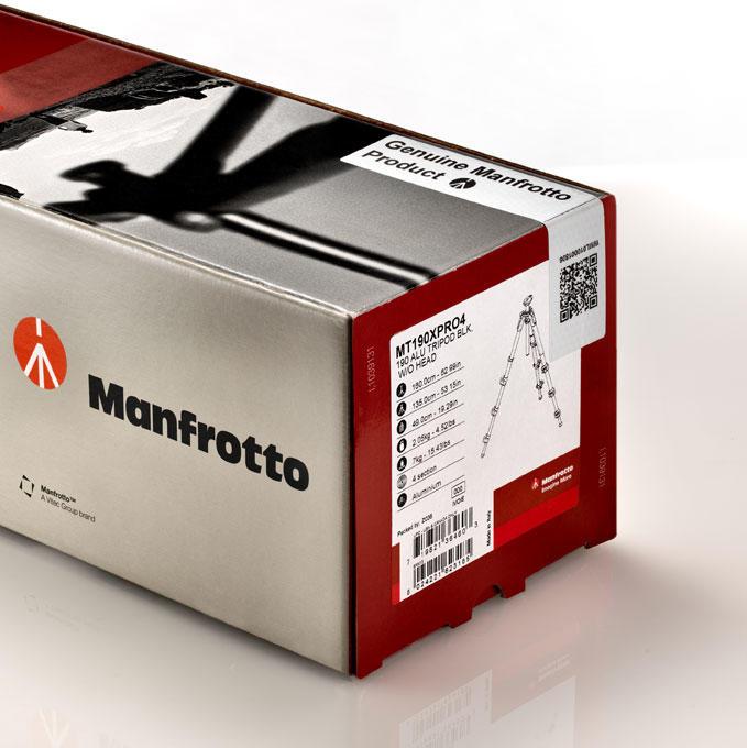 Tripé Manfrotto MK190XPRO3-BH com Cabeça Manfrotto Ball Head para até 6Kg