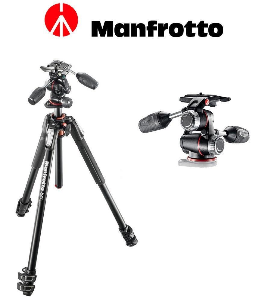 Tripé Manfrotto MK190XPRO3-3W com Cabeça 3 Vias Pan/Tilt para até 6Kg