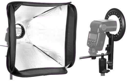 Softbox de 50x50cm para Flash Speedlite com Suporte
