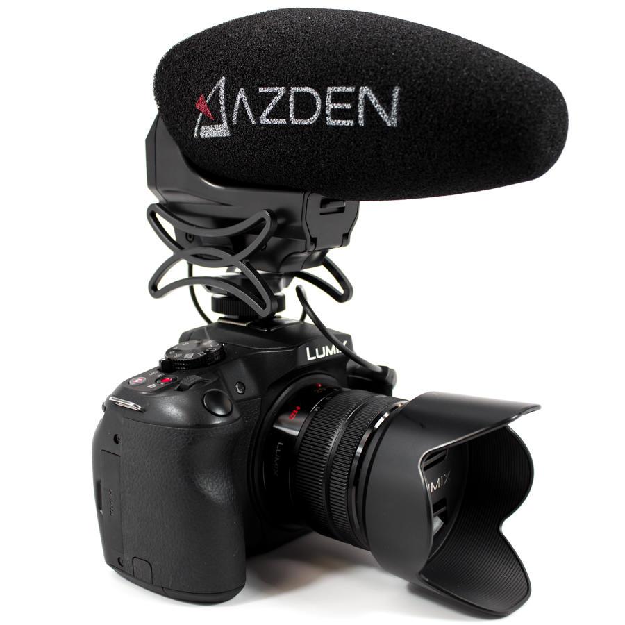 Microfone Shotgun Estéreo e Mono Azden SMX-30