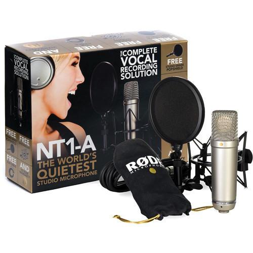 Microfone para Estúdio Rode NT1-A Condensador de Diafragma