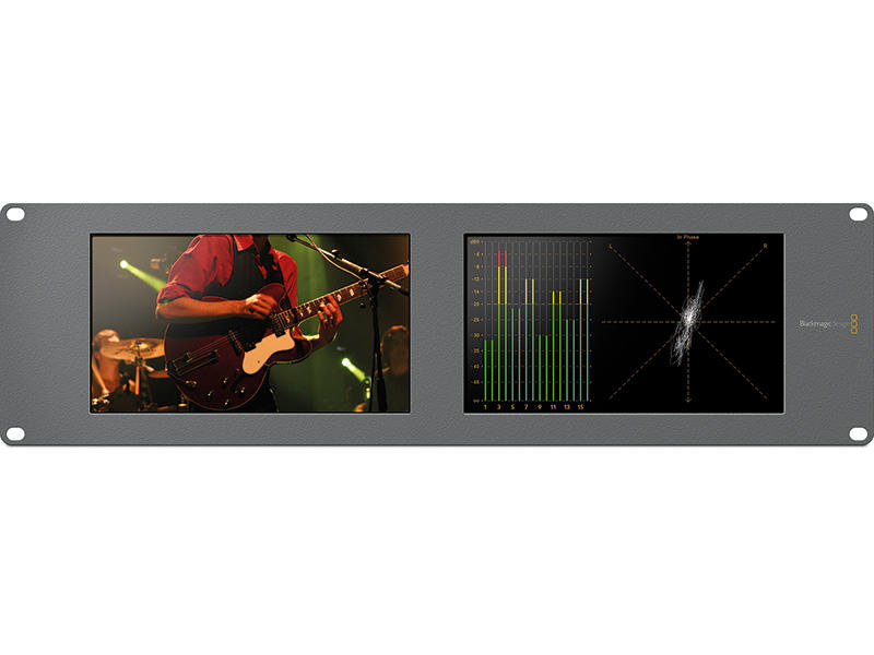 "Monitor Blackmagic Smartscope Duo 4K de 8"" Rack com Duplo G-SDI"