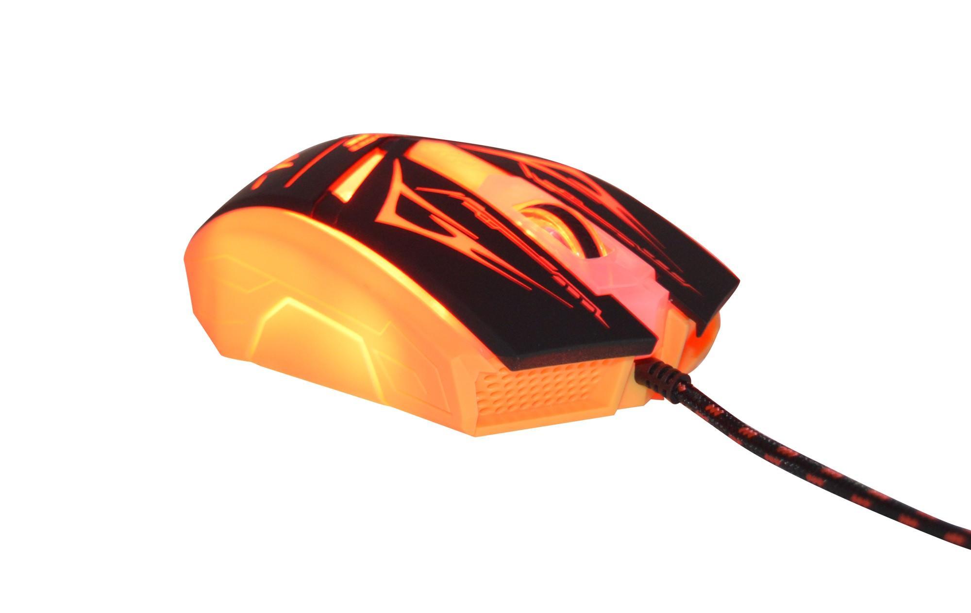 Mouse Gamer Neith com 3200 DPI com 7 Botões (Vermelho)