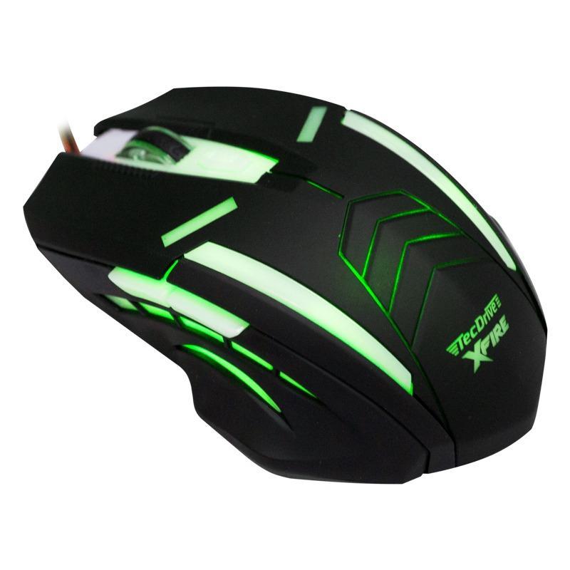 Mouse Gamer Shinigami com 3200 DPI com 7 Botões (Verde)