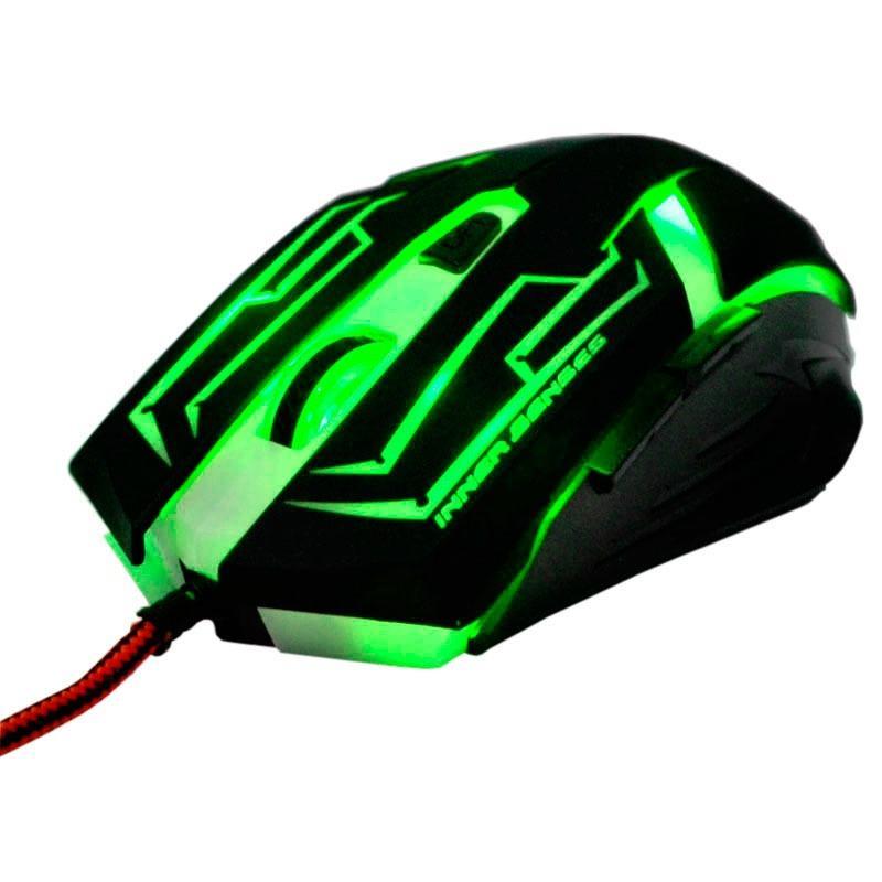 Mouse Gamer Skanda de 3200 DPI com 7 Botões (Verde)