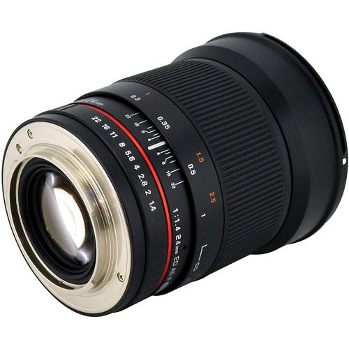 Lente Rokinon 24mm T1.4 ED AS UMC Grande Angular para Canon