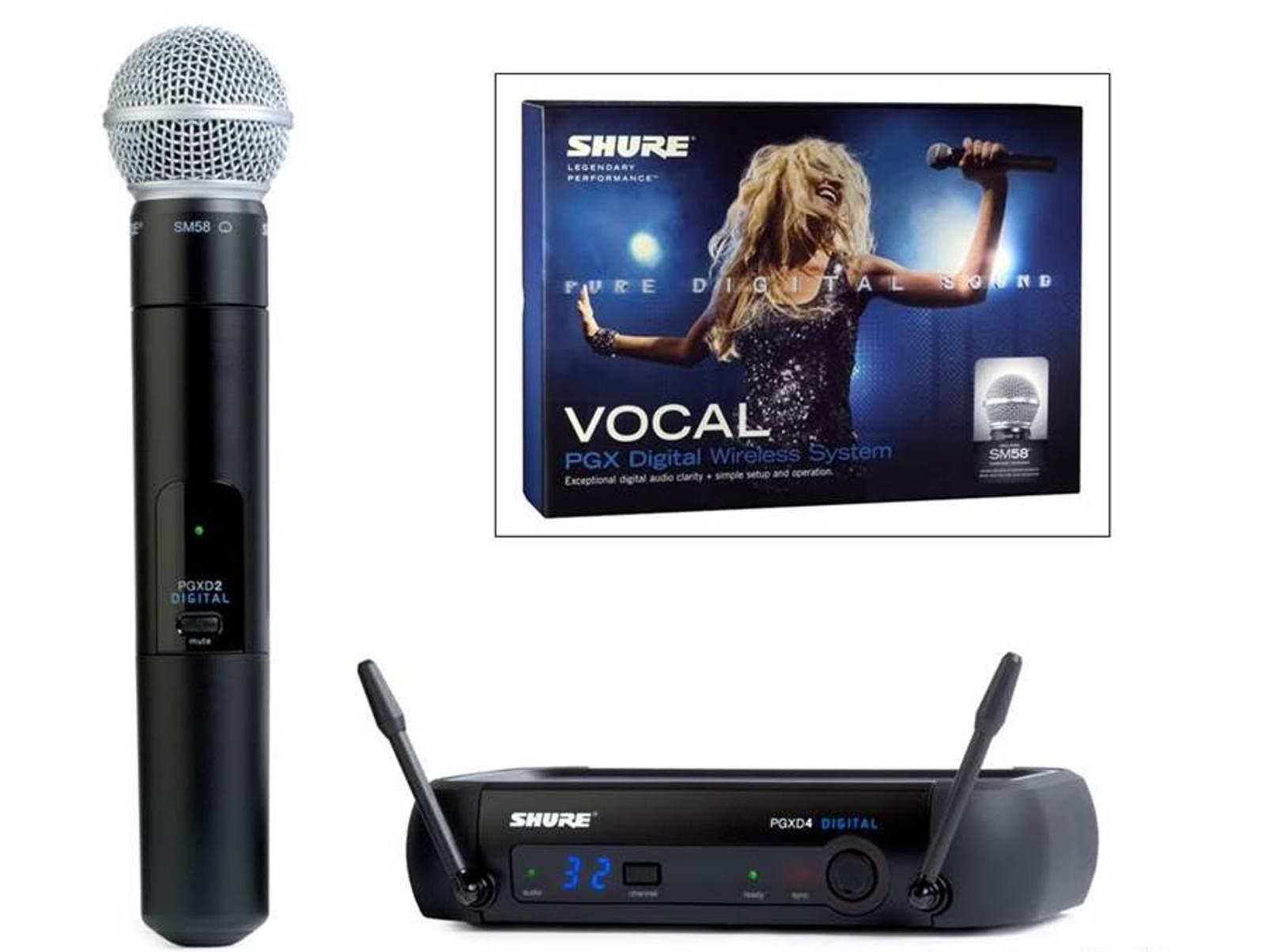 Microfone de Mão sem Fio Shure PGXD24 / SM58